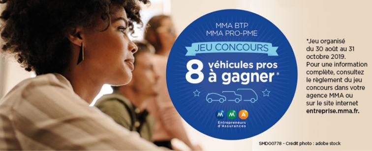 Jeu concours assurance multirisqque professionnelle btp commercant artisans 8 véhicules à gagner